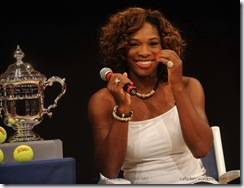 NEW YORK - AUGUST 27: Serena Williams attends the 2009 US Open Draw Presentation at the New York Times Center on August 27, 2009 in New York City. (Photo by Brad Barket/Getty Images)